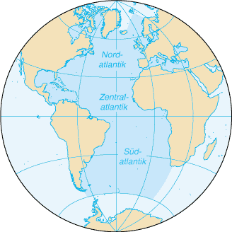 Atlantik-Karte